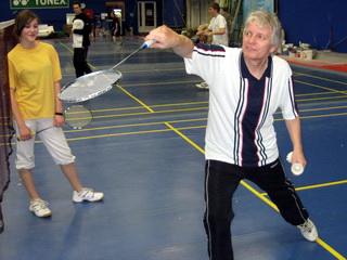 Trenér badmintonu Stanislav Jelínek