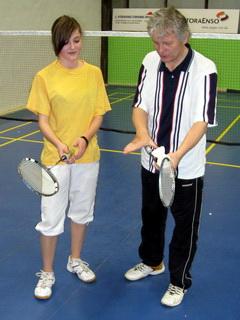 Individuální badmintonový trénink